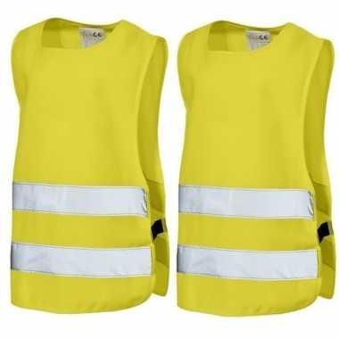Goedkope x geel veiligheids vest kids jaar