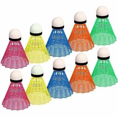 Goedkope x gekleurde badminton shuttles