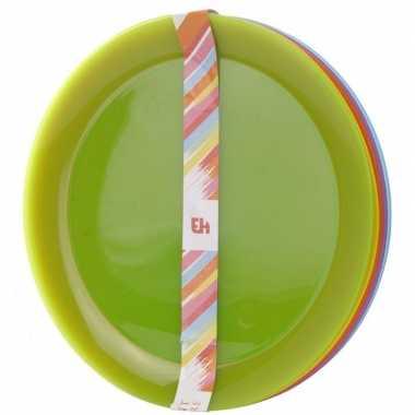 Goedkope x gekleurde borden kunststof kinderen