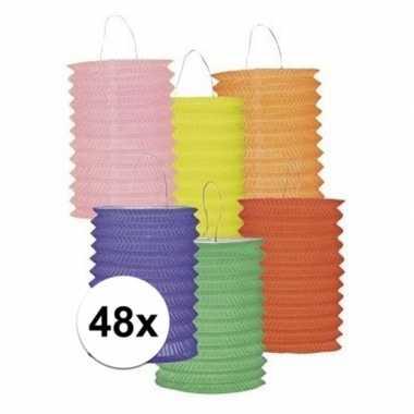 Goedkope x gekleurde lampionnen