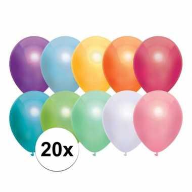 Goedkope x gekleurde metallic ballonnen