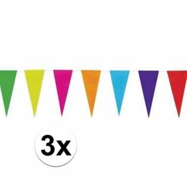 Goedkope x gekleurde vlaggenlijn papier mtr