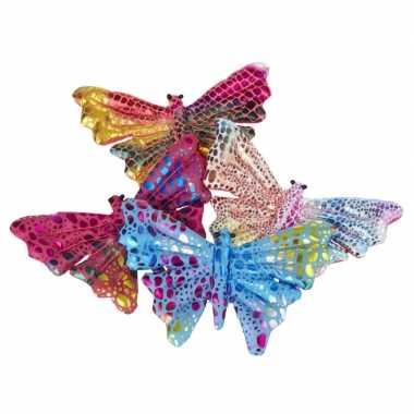 Goedkope x gekleurde vlinder knuffeltjes ongeveer groot