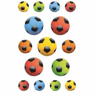 Goedkope x gekleurde voetballen stickers