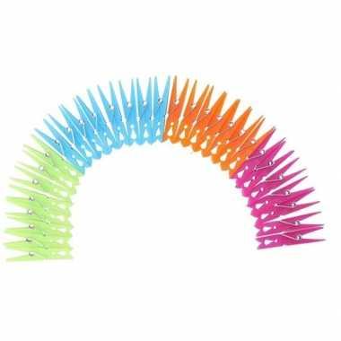 Goedkope x gekleurde wasknijpers kunststof