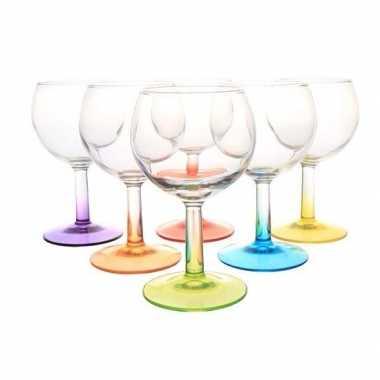 Goedkope x gekleurde wijn glazen