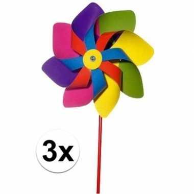 Goedkope x gekleurde windmolens