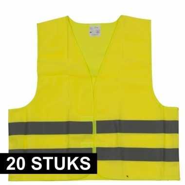 Goedkope x gele veiligheidsvesten volwassenen