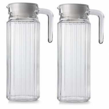 Goedkope x glazen koelkast schenkkannen dop , l