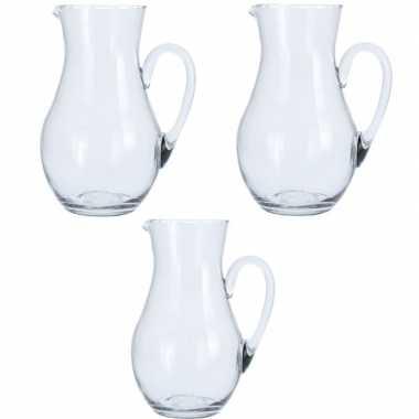 Goedkope x glazen schenkkannen , liter