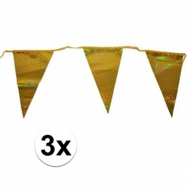 Goedkope x gouden vlaggenlijnen meter