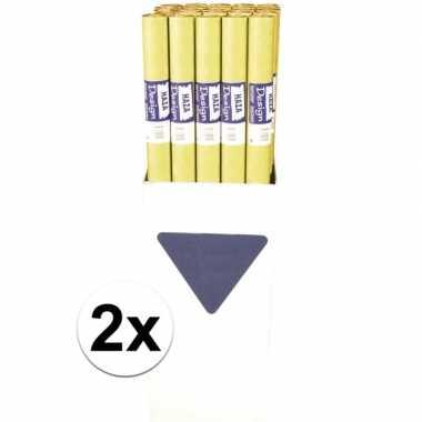 Goedkope x goudgeel papieren tafelkleed rol