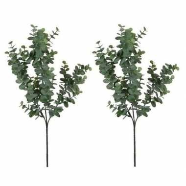 Goedkope x grijs/groene eucalyptus kunsttak kunstplant