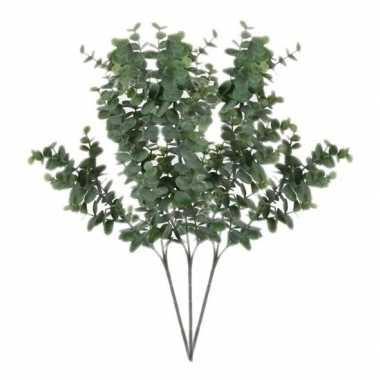 Goedkope x grijs/groene eucalyptus kunsttakken kunstplant