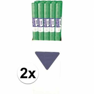 Goedkope x groen papieren tafelkleed rol