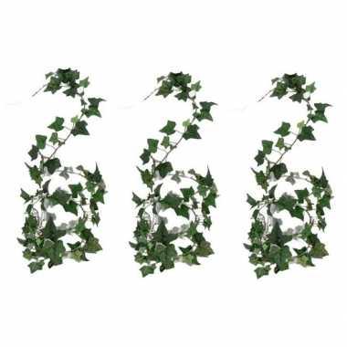 Goedkope x groene hedera helix/klimop kunstplant binnen