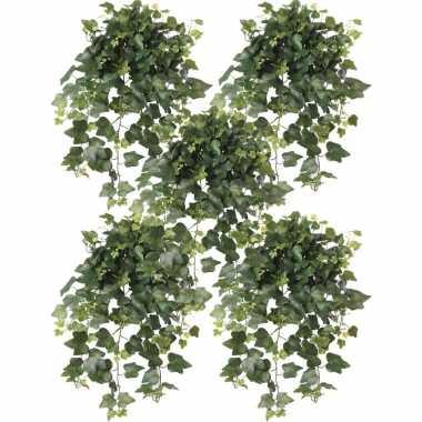 Goedkope x groene hedera helix/klimop kunstplanten buiten