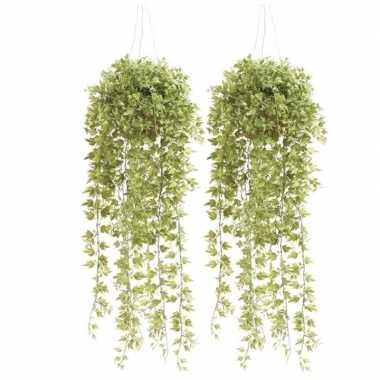 Goedkope x groene hedera/klimop kunstplanten hangende pot