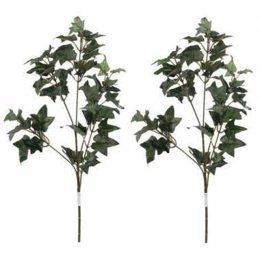 Goedkope x groene hedera/klimop kunsttak kunstplant