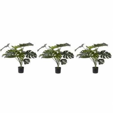 Goedkope x groene monstera kunstplanten binnen
