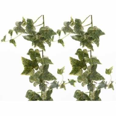 Goedkope x groene/witte hedera helix/klimop kunstplanten slingers