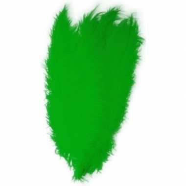 Goedkope x grote decoratie veren/struisvogelveren groen
