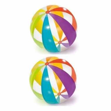 Goedkope x grote opblaasbare strandballen transparant kleuren