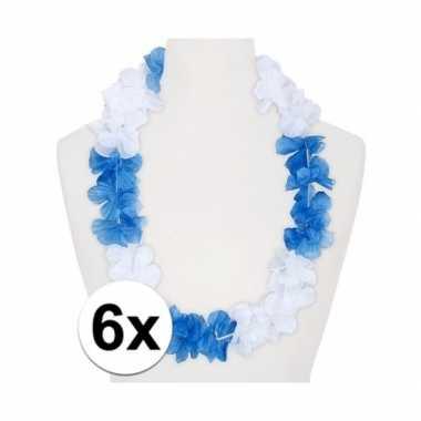 Goedkope x hawaii kransen wit/blauw