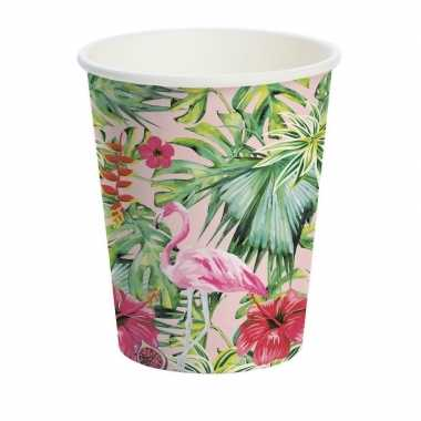Goedkope x hawaii thema papieren drinkbekers
