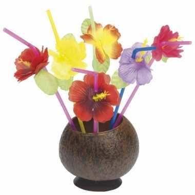 Goedkope x hawaii thema rietjes bloemetjes