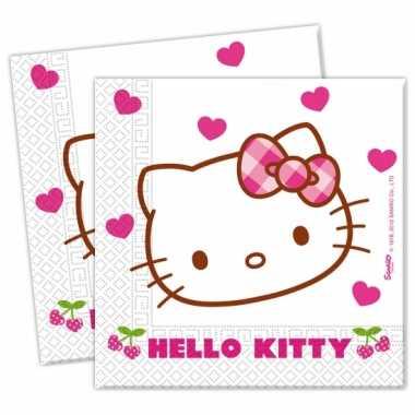 Goedkope x hello kitty themafeest servetjes