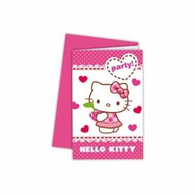 Goedkope x hello kitty themafeest uitnodigingen