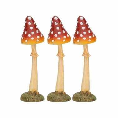 Goedkope x herst decoratie paddenstoel vliegenzwam