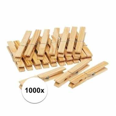 Goedkope x houten wasknijpers / knijpers