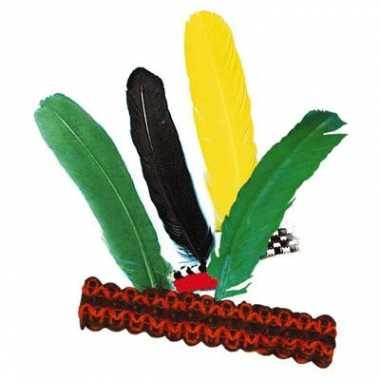 Goedkope x indianen verkleed hoofdbanden veer