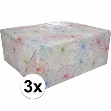 Goedkope x inpakpapier bloemen motief rol type