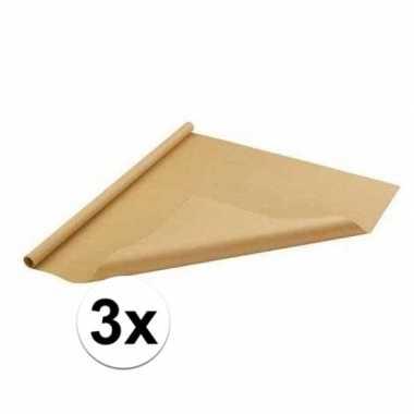 Goedkope x inpakpapier bruin rol