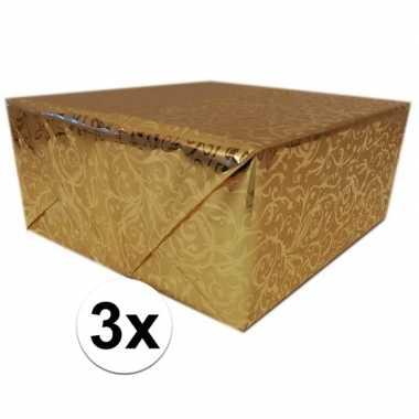 Goedkope x inpakpapier/cadeaupapier goud klassiek design