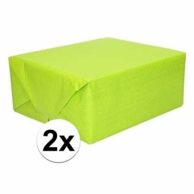 Goedkope x inpakpapier/cadeaupapier lime groen kraftpapier