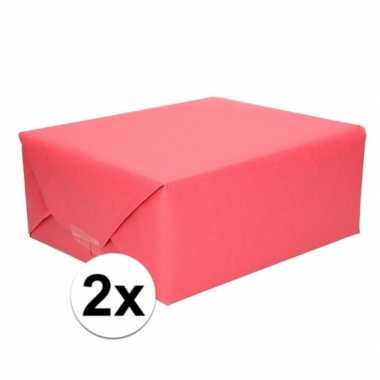 Goedkope x inpakpapier/cadeaupapier rood kraftpapier rollen