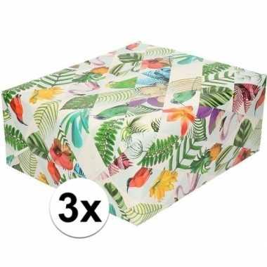 Goedkope x inpakpapier/cadeaupapier tropische vogels