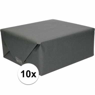 Goedkope x inpakpapier/cadeaupapier zwart kraftpapier cm rollen