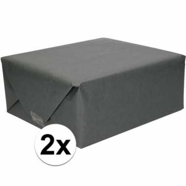 Goedkope x inpakpapier/cadeaupapier zwart kraftpapier rollen