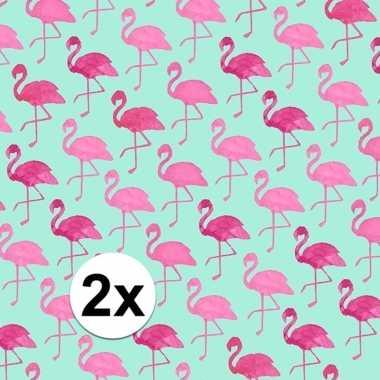 Goedkope x inpakpapier flamingo motief rol type
