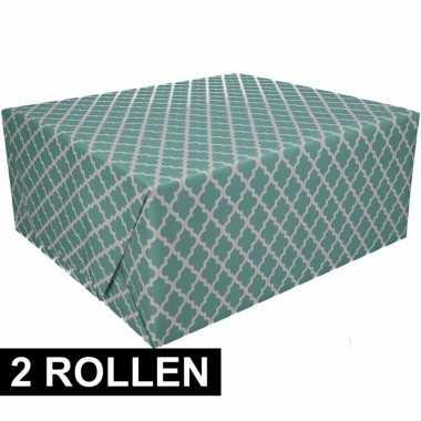 Goedkope x inpakpapier groen design rol type