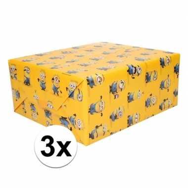 Goedkope x inpakpapier minions geel rol