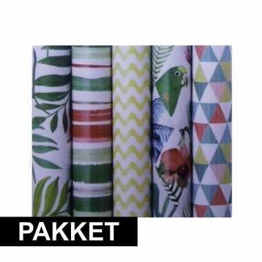 X inpakpapier rollen voordeelpakket verschillende goedkopes