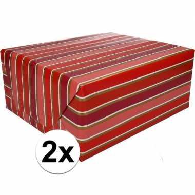 Goedkope x inpakpapier strepen rol type