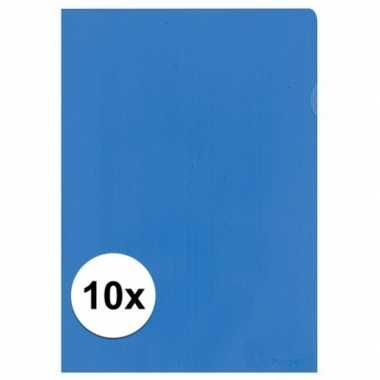 Goedkope x insteekmap blauw a formaat