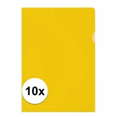 Goedkope x insteekmap geel a formaat